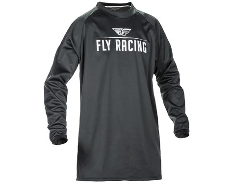 Fly Racing Windproof Technical Jersey (Black/Grey) (M)