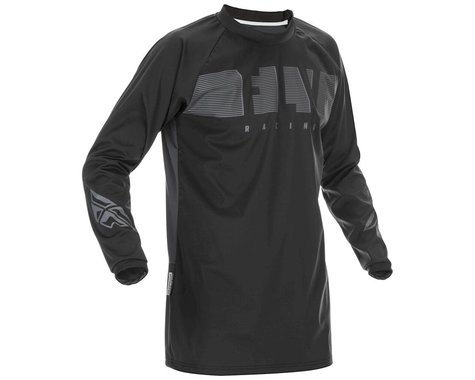 Fly Racing Windproof Jersey (Black/Grey) (2XL)
