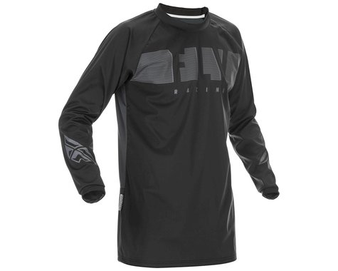 Fly Racing Windproof Jersey (Black/Grey) (S)