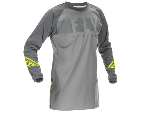 Fly Racing Windproof Jersey (Grey/Hi Vis) (S)