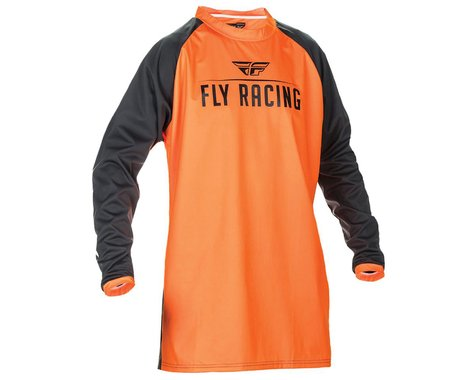 Fly Racing Windproof Technical Jersey (Flo Orange/Black) (L)