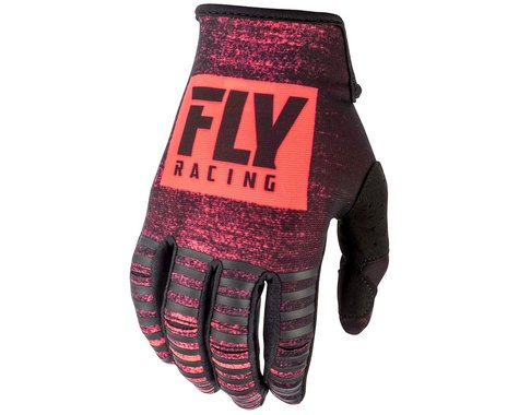 Fly Racing Kinetic Noiz Mountain Bike Glove (Neon Red/Black) (S)