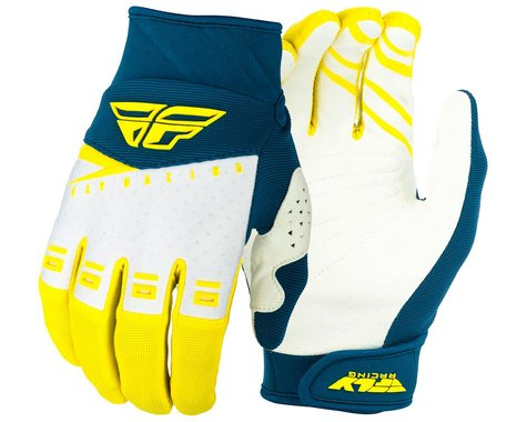 Fly Racing F-16 Gloves (Yellow/White/Navy) (2XL)