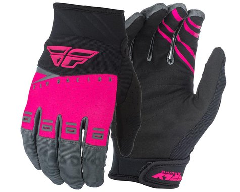 Fly Racing F-16 Gloves (Pink/Black/Grey) (XL)