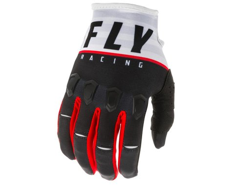 Fly Racing Kinetic K120 Gloves (Black/White/Red) (XL)