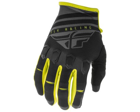 Fly Racing Kinetic K220 Gloves (Black/Grey/Hi-Vis) (S)