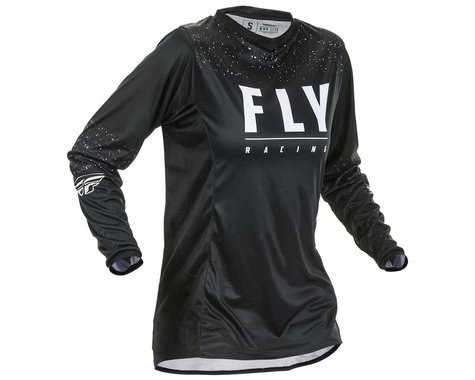 Fly Racing Youth Lite Jersey (Black/White) (YL) (YM)