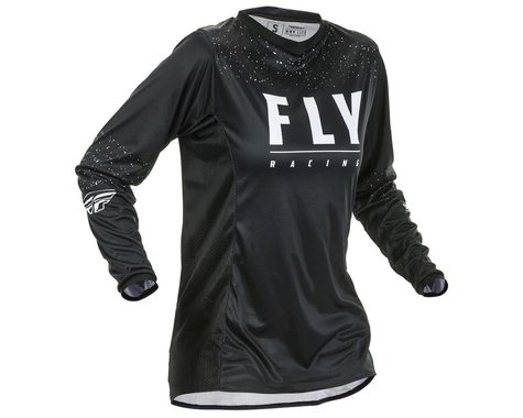 Fly Racing Women's Lite Jersey (Black/White) (YXS)