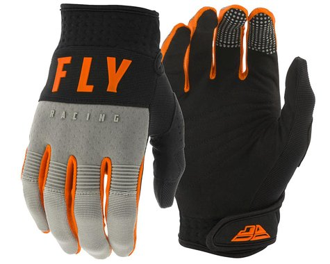 Fly Racing F-16 Gloves (Grey/Black/Orange) (Youth S)