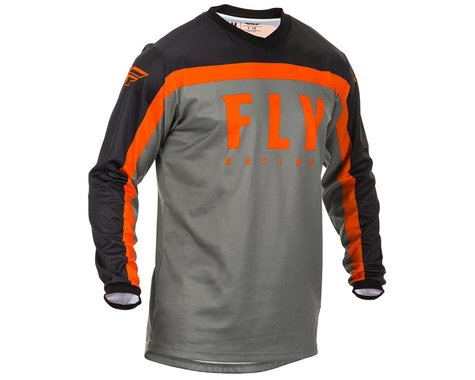 Fly Racing Youth F-16 Jersey (Grey/Black/Orange) (YXL)