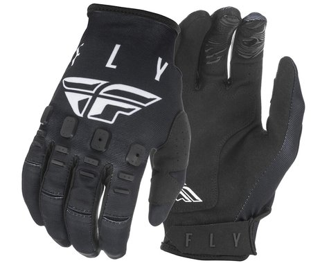 Fly Racing Kinetic K121 Gloves (Black/White) (L)