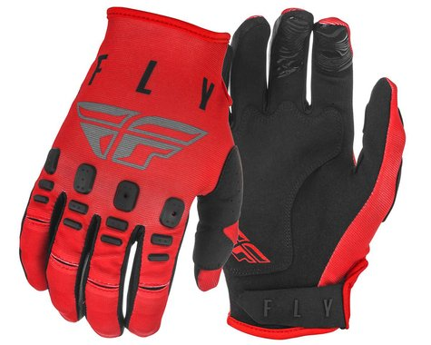 Fly Racing Kinetic K220 Gloves (Red/Grey/Black) (M)