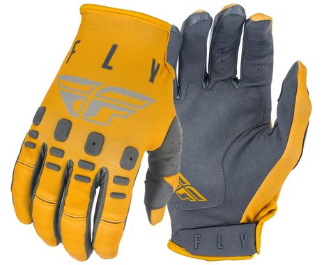 Fly Racing Kinetic K121 Gloves (Mustard/Stone/Grey) (M)