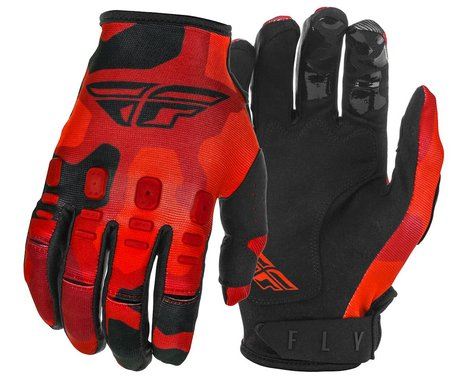 Fly Racing Kinetic K220 Gloves (Red/Black) (Youth M)
