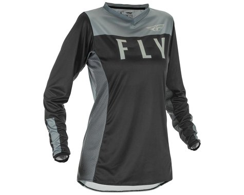 Fly Racing Women's Lite Jersey (Black/Grey) (2XL)