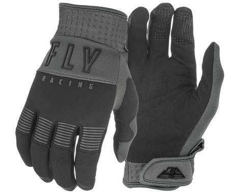 Fly Racing F-16 Gloves (Black/Grey) (Youth L)