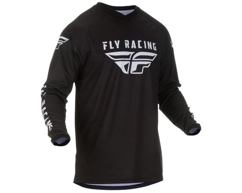 Fly Racing Universal Jersey (Black/White) (5XL)