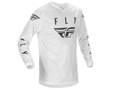 Fly Racing Universal Jersey (White/Black) (Youth XL)