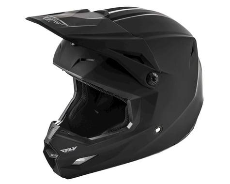 Fly Racing 2019 Elite Solid Youth Helmet (Matte Black) (Kids M)