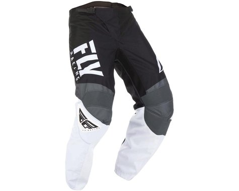 Fly Racing 2019  F-16 Youth Pants (Black/White/Gray) (20)