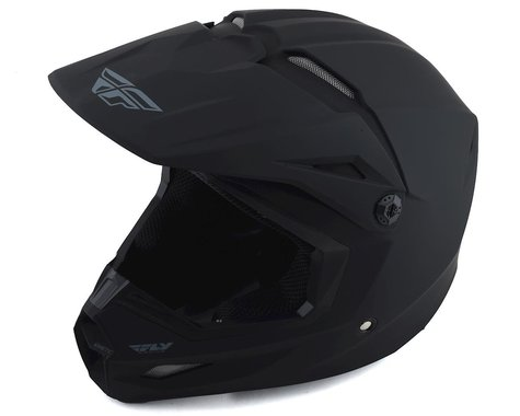 Fly Racing Kinetic Solid Youth Helmet (Matte Black) (S)