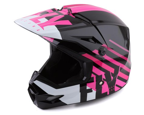 Fly Racing Youth Kinetic Thrive Helmet (Pink/Black/White) (Youth S)