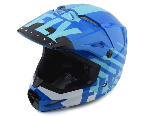 Fly Racing Kinetic K120 Helmet (Blue/White) (L)