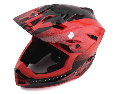 Fly Racing Youth Default Full Face Mountain Bike Helmet (Red/Black) (Kids L)