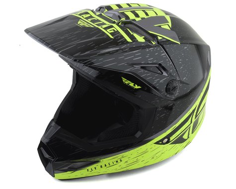 Fly Racing Kinetic K120 Youth Helmet (Hi-Vis/Grey/Black) (Kids S)