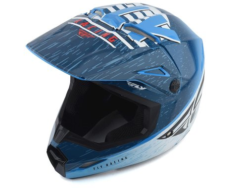 Fly Racing Kinetic K120 Youth Helmet (Blue/White/Red) (Kids L)