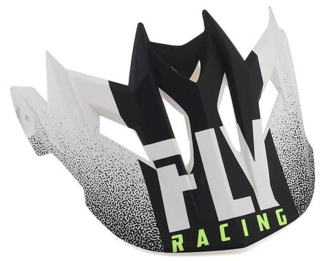 Fly Racing Default Visor (Matte White/Black)