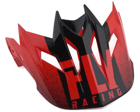 Fly Racing Default Visor (Red/Black)