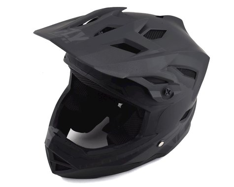 Fly Racing Youth Default Full Face Mountain Bike Helmet (Matte Black/Grey) (Kids L)