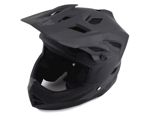 Fly Racing Youth Default Full Face Mountain Bike Helmet (Matte Black/Grey) (Kids M)