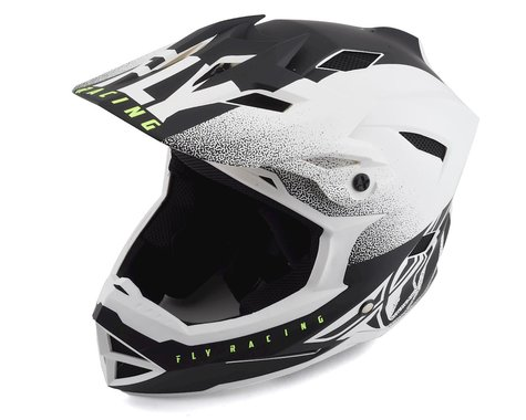 Fly Racing Default Full Face Mountain Bike Helmet (Matte White/Black) (S)