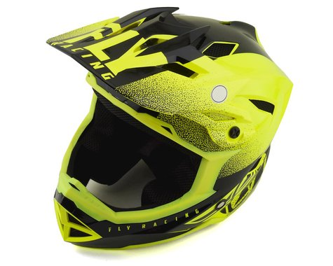 Fly Racing Default Full Face Mountain Bike Helmet (Hi-Vis Yellow/Black) (Kids M)