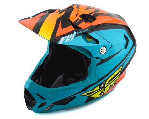 Fly Racing Werx Rival MIPS Helmet (Teal/Orange/Black) (XL)