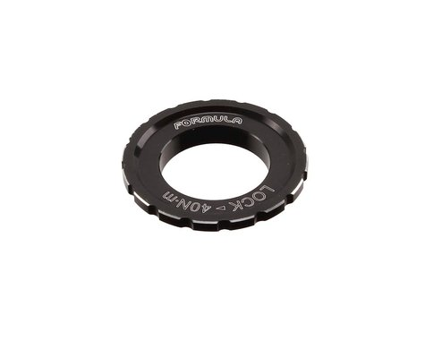 Formula Italy Centerlock Disc Brake Rotor Lockring (Black) (1) (35mm)