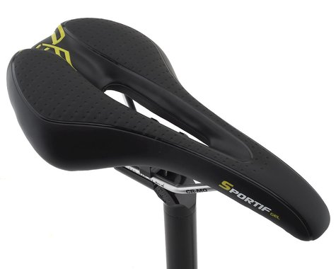 Forte Sportif Gel Saddle (Black) (Chromoly Rails)