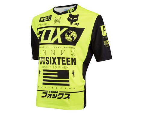 Fox Racing Demo Union Short Sleeve Jersey (Matte Black/High Vis)