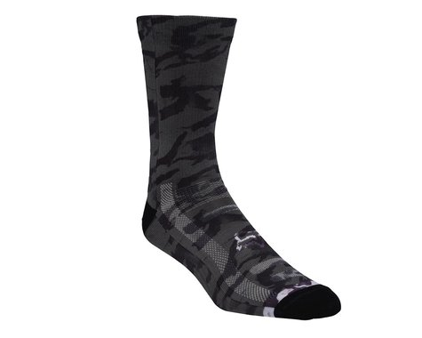 "Fox Racing 8"" Creo Trail Socks (Black/White)"