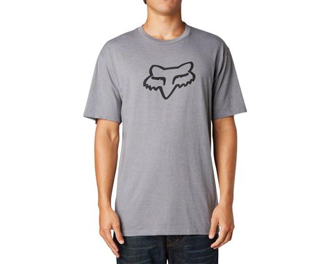Fox Racing Racing Legacy Fox Head Short Sleeve T-Shirt (Heather Graphite)