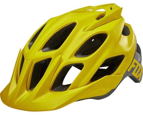 Fox Racing Flux Trail Helmet: Creo Dark Yellow LG/XL