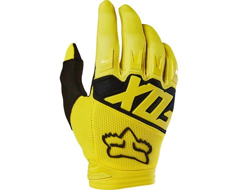 Fox Racing Dirtpaw Men's Full Finger Glove (Yellow)