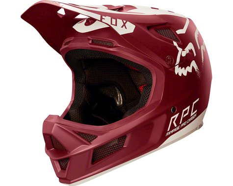 Fox Racing Racing Rampage Pro Carbon Downhill Helmet (Moth Dark Red)