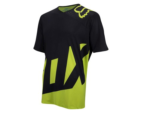 Fox Racing Attack Short Sleeve Jersey (Matte Black/High Vis) (Xlarge)