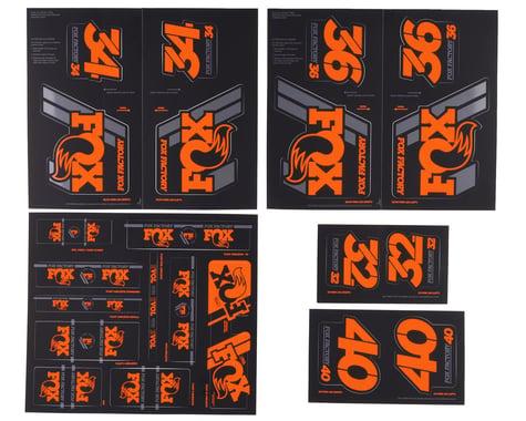 Fox Suspension Heritage Decal Kit (Orange)