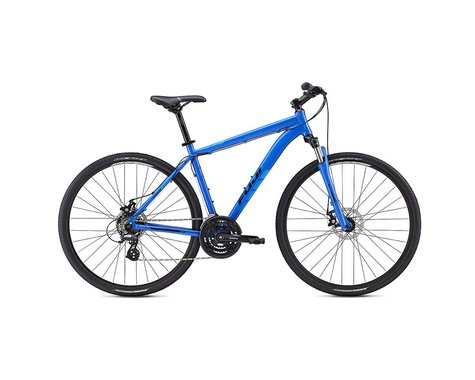 Fuji Traverse 1.7 Disc Sport Hybrid Bike - 2017 (Black / Cyan) (15)
