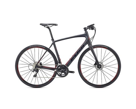 Fuji Bikes Fuji Gran Fondo Forza 1.1 Disc Flat Bar Road Bike - 2017 (Carbon/Red)