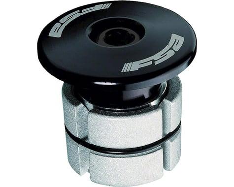 """FSA Compressor Expander Plug & Top Cap (Black) (1-1/8"""")"""